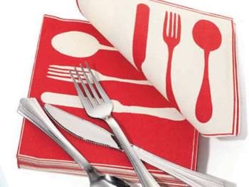 O at Home List: Plastic Silverware and Napkins