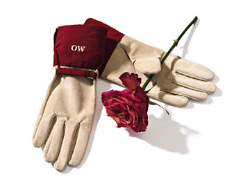 O at Home List: Suede gardening gloves