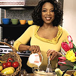 Oprah cooking corn fritters