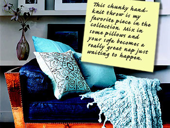 Nate Berkus's ideas for sofas and pillows