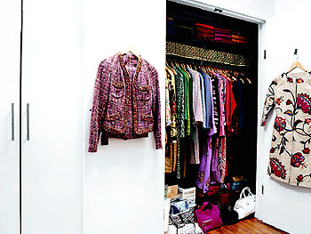 Thelma Golden's 16-feet of closet space