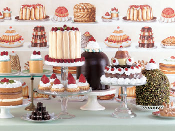 Dessert table setting