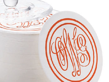 Decor O at Home List: Monogrammed Coasters