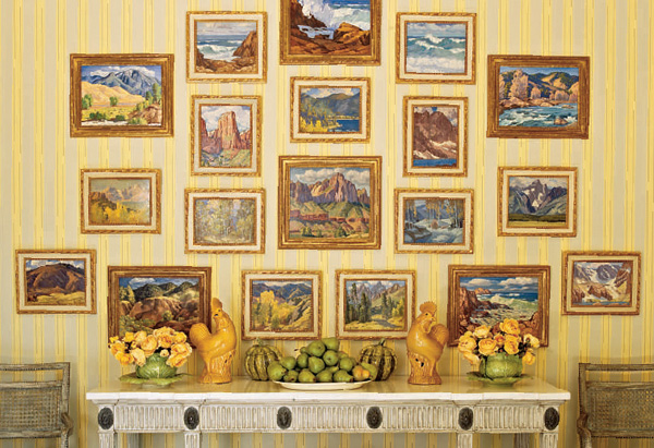 Paintings by Paul K. Smith in the dining room