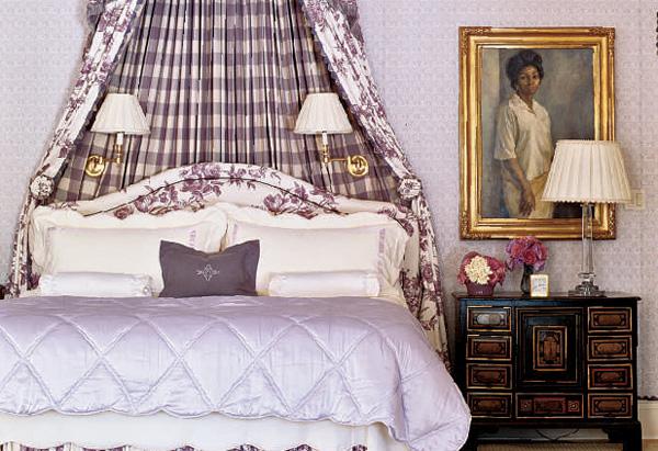 The master bedroom in Oprah's Santa Barbara guest house
