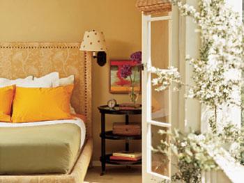 Suzanne Goin and David Lentz's bedroom
