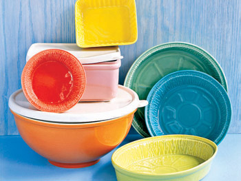 Disposable aluminum pans and Tupperware