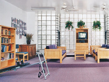 St. Helena's living area before the Good Works Makeover