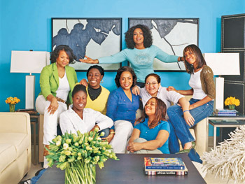 Oprah, Elaine Griffin and St. Helena's residents