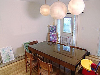 The dining area before