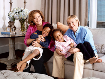 Hilary, Elizabeth and their twins, Jacob and Anna