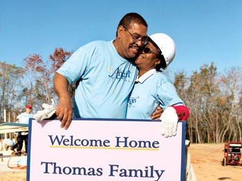 Nathan and Esther Thomas took a break from working on their future home