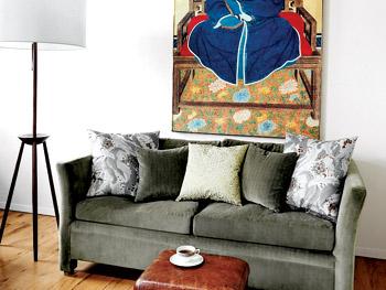 Jane's full, separate living room