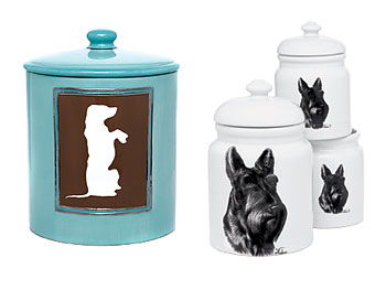 Ceramic jars with bold graphics