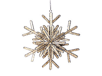 Giant beaded crystal snowflakes