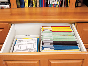 Organized file drawers