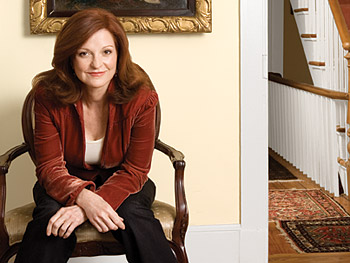 Maureen Dowd in the living room of her Washington, D.C., townhouse