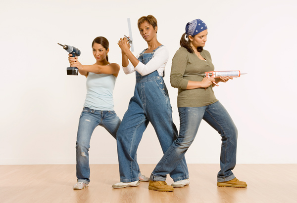 DIY women having fun