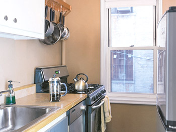 Julie Morgenstern's old kitchen was dark and cramped.