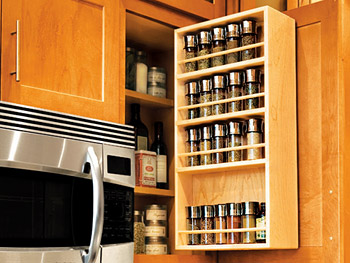 Even the spice rack feels coolly minimal.