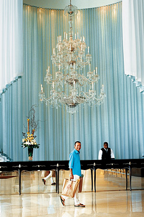 Colin Cowie in the lobby of his Miami apartment building