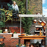 Art Smith in his outdoor kitchen
