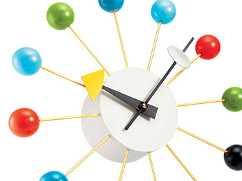 Nelson Multicolor Ball Wall Clock