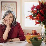Elizabeth Berg in her kitchen