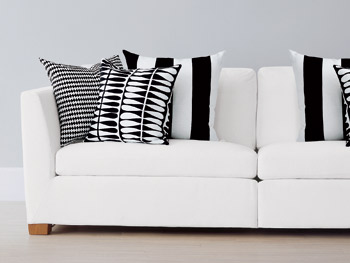 Black-and-white pillows