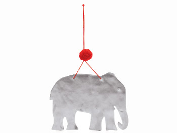 Porcelain pachyderm elephant from Uncommon Goods