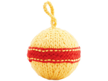 Knit sphere ornament from Anthropologie