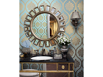 The metallic powder room