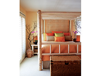 Kimberly's tropical bedroom