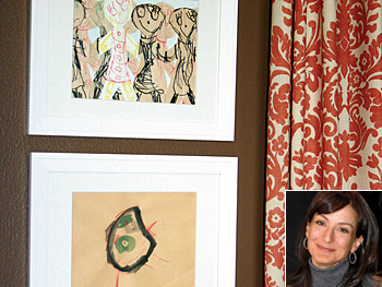 Janell displays the artwork so it creates continuity.