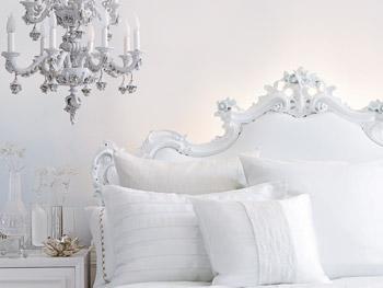A monochromatic bedroom