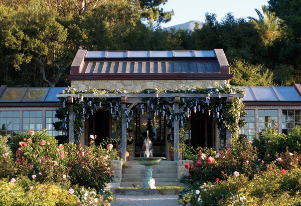 Oprah's rose garden and teahouse