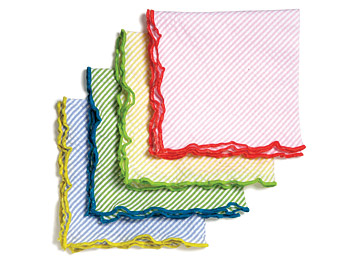 Seersucker cocktail napkins