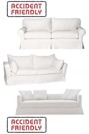 Soft white sofas