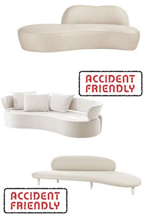 Ultramodern white sofas