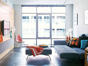 The living room. 0. Space Saving Ideas for a Small Condo