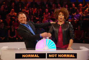 "Barry Poznick and Kim Coles, hosts of ""Are You Normal, America?"""