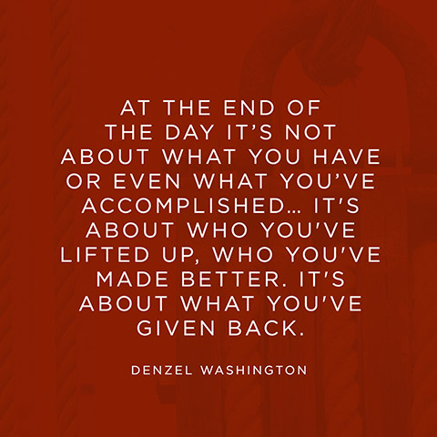Quotes On Giving Back Extraordinary Quote About Giving Back  Denzel Washington