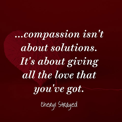 giving up for compassion Giving from compassion giving doesn't have to be self-sacrifice, it can be warm  and wonderful but we all have a limit to what we give whether.