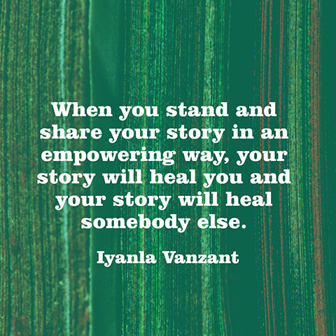 Iyanla Vanzant Quote - When You Stand and Share Your Story