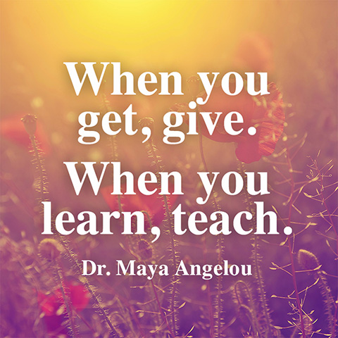 Quotes About Teaching Magnificent Quote About Teaching  Maya Angelou