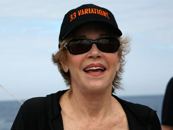 Jane Fonda on the boat