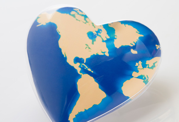 Heart-shaped world