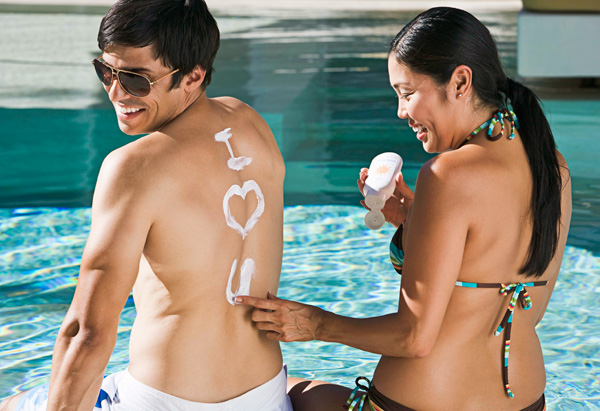 Couple at the pool