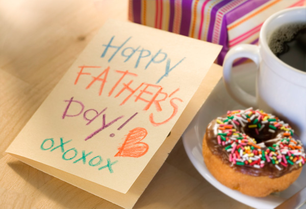 Father's Day card and gift