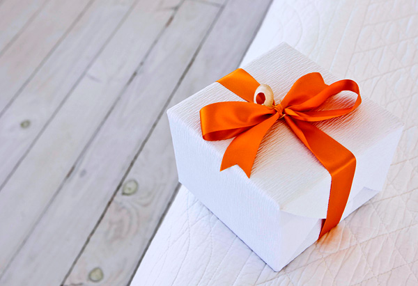 Present wrapped with bow